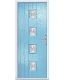 The Uttoxeter Composite Door in Blue (Duck Egg) with Bullion