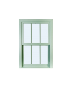 Greater Manchester uPVC Sliding Sash Window in Chartwell Green