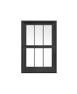 Greater Manchester uPVC Sliding Sash Window in Anthracite Grey