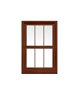 Greater Manchester uPVC Sliding Sash Window in Rosewood