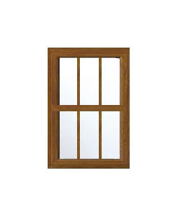 Greater Manchester uPVC Sliding Sash Window in Golden Oak