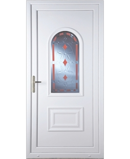 Epsom Red Diamond uPVC Door
