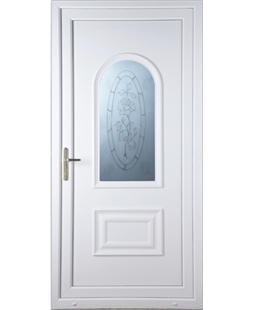 Epsom Rose Sandblast uPVC Door