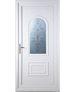 Epsom Victorian Sandblast uPVC High Security Door