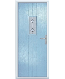 The Taunton Composite Door in Blue (Duck Egg) with Cameo