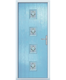 The Uttoxeter Composite Door in Blue (Duck Egg) with Cameo