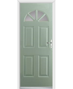 Ultimate Carolina Rockdoor in Chartwell Green with Glazing