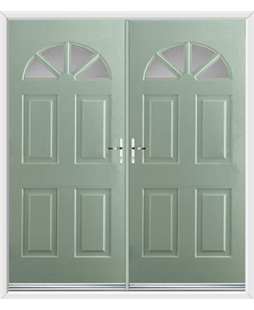 Carolina French Rockdoor in Chartwell Green with Glazing