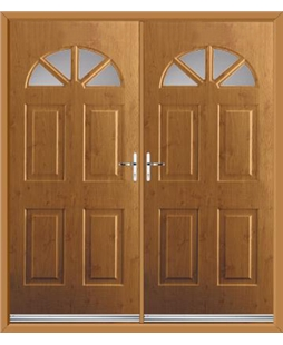 Carolina French Rockdoor in Irish Oak with Glazing