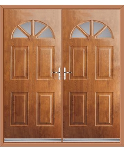 Carolina French Rockdoor in Light Oak with Glazing