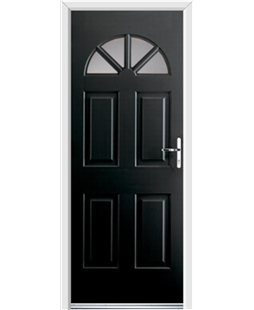 Ultimate Carolina Rockdoor in Onyx with Glazing