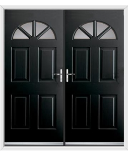 Carolina French Rockdoor in Onyx Black with Glazing