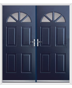 Carolina French Rockdoor in Sapphire Blue with Glazing