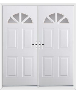Carolina French Rockdoor in White with Glazing