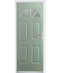Ultimate Carolina Rockdoor in Chartwell Green with Gluechip Glazing