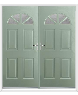 Carolina French Rockdoor in Chartwell Green with Gluechip Glazing