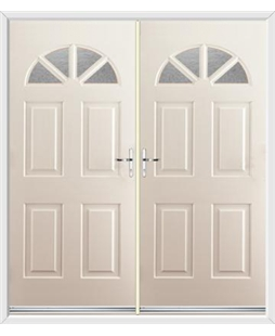 Carolina French Rockdoor in Cream with Gluechip Glazing