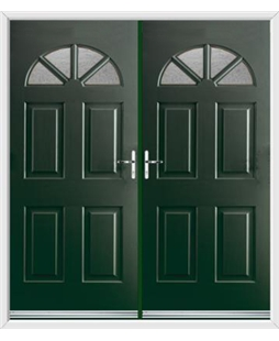Carolina French Rockdoor in Emerald Green with Gluechip Glazing
