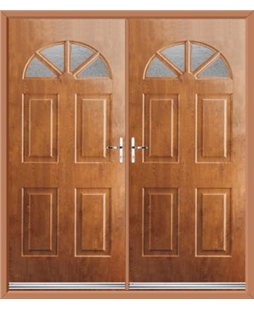 Carolina French Rockdoor in Light Oak with Gluechip Glazing