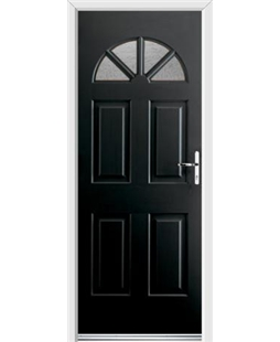 Ultimate Carolina Rockdoor in Onyx with Gluechip Glazing