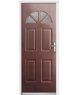 Ultimate Carolina Rockdoor in Rosewood with Gluechip Glazing