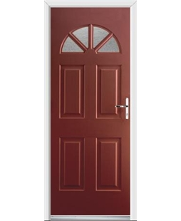 Ultimate Carolina Rockdoor in Ruby Red with Gluechip Glazing