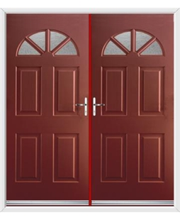 Carolina French Rockdoor in Ruby Red with Gluechip Glazing