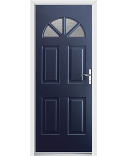Ultimate Carolina Rockdoor in Sapphire Blue with Gluechip Glazing