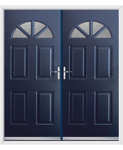 Carolina French Rockdoor in Sapphire Blue with Gluechip Glazing