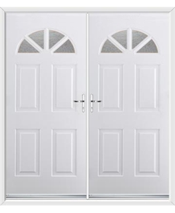 Carolina French Rockdoor in White with Gluechip Glazing
