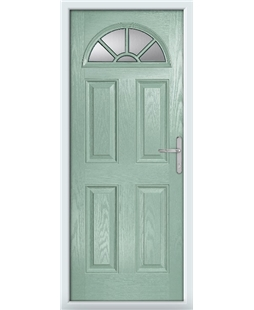 The Jamestown Composite Door in Green (Chartwell) with Clear Glazing