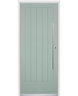 Ultimate Indiana Rockdoor in Chartwell Green with Bar Handle