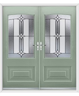 Portland French Rockdoor in Chartwell Green with Apostle Glazing