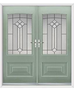 Portland French Rockdoor in Chartwell Green with Beacon
