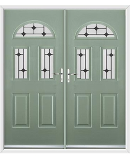 Tennessee French Rockdoor in Chartwell Green with Black Diamonds