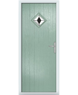 The Reading Composite Door in Green (Chartwell) with Black Diamonds