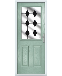 The Farnborough Composite Door in Green (Chartwell) with Black Diamonds