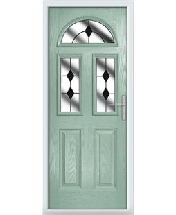 The Glasgow Composite Door in Green (Chartwell) with Black Diamonds