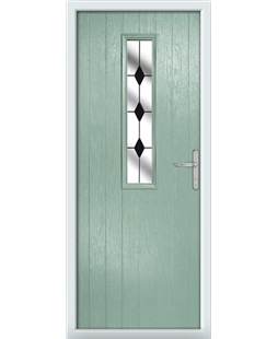 The Sheffield Composite Door in Green (Chartwell) with Black Diamonds