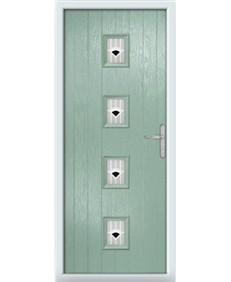 The Uttoxeter Composite Door in Green (Chartwell) with Black Murano