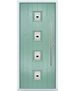 The Leicester Composite Door in Green (Chartwell) with Black Murano