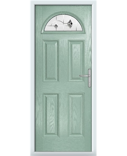 The Derby Composite Door in Green (Chartwell) with Black Murano