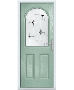The Edinburgh Composite Door in Green (Chartwell) with Black Murano