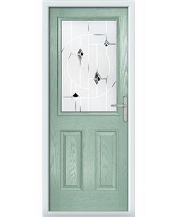 The Farnborough Composite Door in Green (Chartwell) with Black Murano
