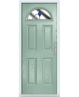 The Derby Composite Door in Green (Chartwell) with Blue Diamonds