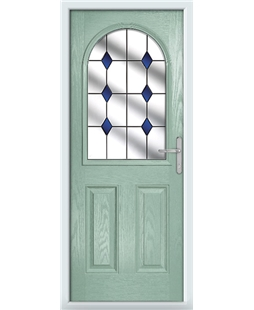 The Edinburgh Composite Door in Green (Chartwell) with Blue Diamonds
