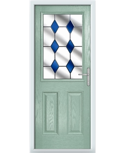 The Farnborough Composite Door in Green (Chartwell) with Blue Diamonds