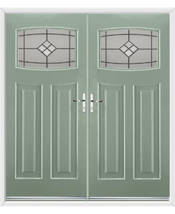 Newark French Rockdoor in Chartwell Green with Bright Star Glazing