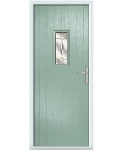 The Taunton Composite Door in Green (Chartwell) with Clarity Elegance