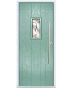 The Zetland Composite Door in Green (Chartwell) with Clarity Elegance
